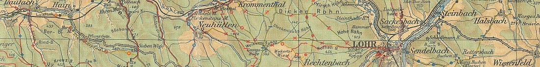 Spessartbundkarte 1955