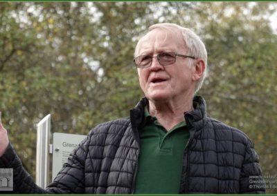 Edgar Seubert, Vorsitzender des Gartenbauvereins auf dessen Grundstück der Grenzsteingarten steht.