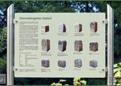 Informationstafel, vom Förderverein Sailauf gestaltet
